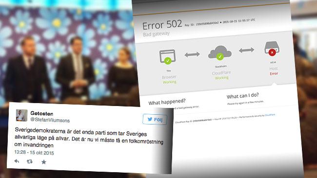 Massiva reaktioner i sociala medier och hemsidan kraschade efter presskonferensen.