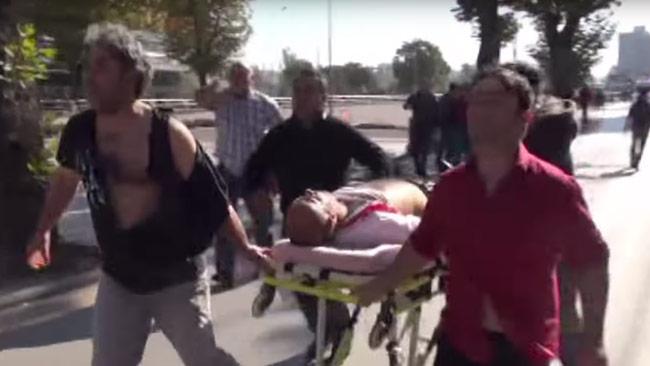 Flera människor rapporteras döda i dagens terrorattack i Turkiet. Foto: Faksimil Youtube / Ruptly.tv