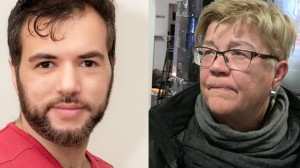 Nationalekonomen Tino Sanandaji (t.v) rasar mot Aftonbladets Lena Mellin (t.h). Foto: Privat samt Nyheter Idag