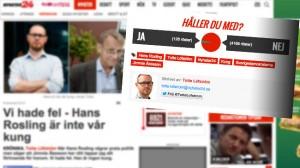 Totte Löfström går nu till rasande attack på Hans Rosling för att den senare sagt att SD har rätt om hjälp till UNHCR. Foto: Faksimil Nyheter24