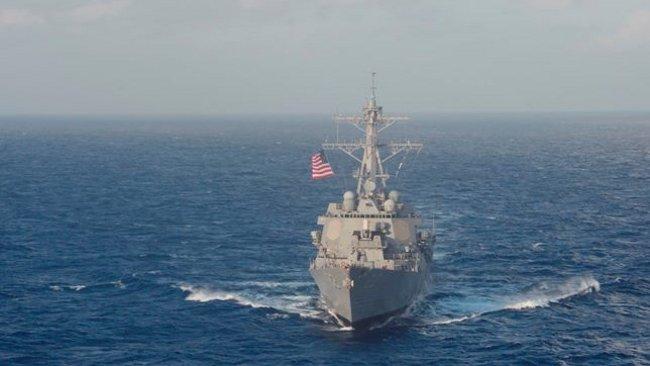 USS Lassen i Sydkinesiska havet. Foto: Facebook