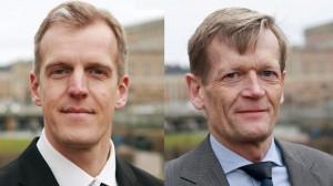 Anders Königsson (t.v) och Bo Hansson (t.h) från partiet Borgerlig Framtid.