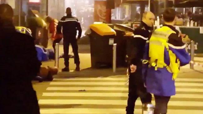 Stillbild ur den dramatiska videon som laddats upp i sociala medier.