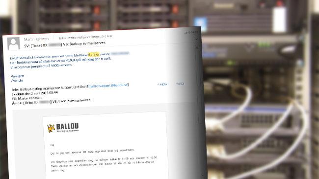 Ett av mejlen som Nyheter Idag tagit del av visar vem som hämtade hårddisken med en kopia på mejlsystemet. Bilden är ett montage. Foto: Wikimedia Commons