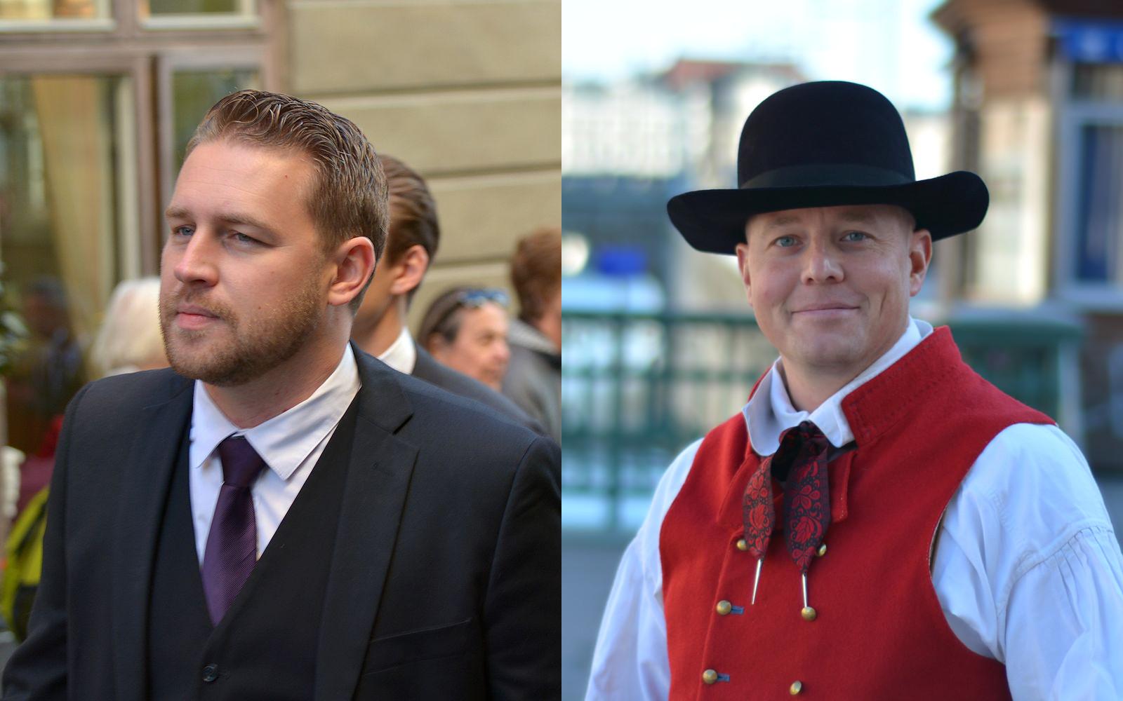 """Björn Söder (t.h) sparkas ut ur SD:s inre krets. Enligt partiets gruppledare i riksdagen, Mattias Karlsson, för att han förlorat sin """"naturliga roll"""" i partiets verkställande utskott. Foto: Wikipedia"""