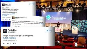 Uteslutna före detta medlemmar riktar hård kritik mot Landsdagarna och partiet. Foto: Faksimil Twitter / Sverigedemokraterna