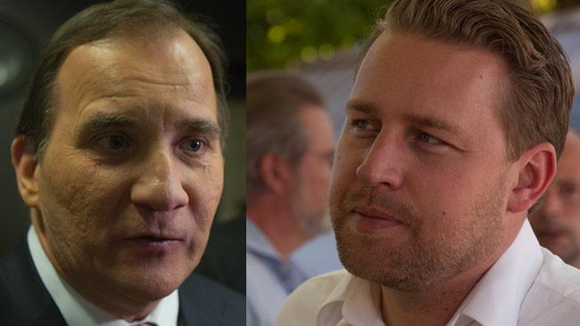 Mattias Karlsson (SD) är en av de som rasar mot Stefan Löfven. Foto: Nyheter Idag