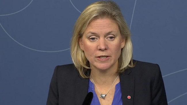 Magdalena Andersson berättade att Sverige ökar statsskulden med elva miljarder. Foto: regeringen.se