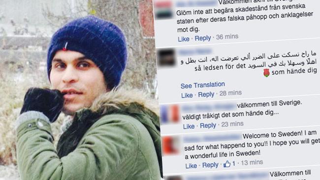 Majid kärleksbomas nu på sin Facebooksida efter att inte längre vara terrormisstänkt. Foto: Faksimil Facebook