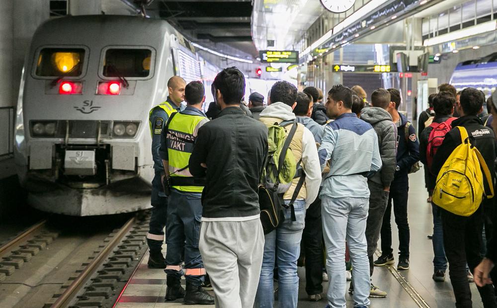 Asylsökande på Malmö centralstation. Personerna på bilden har ingenting med artikeln att göra. Foto: Tomislav Stjepic/Migrationsverket