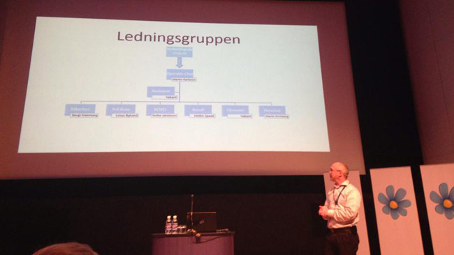 Martin Karlsson var chef över hela organisationen i SD.