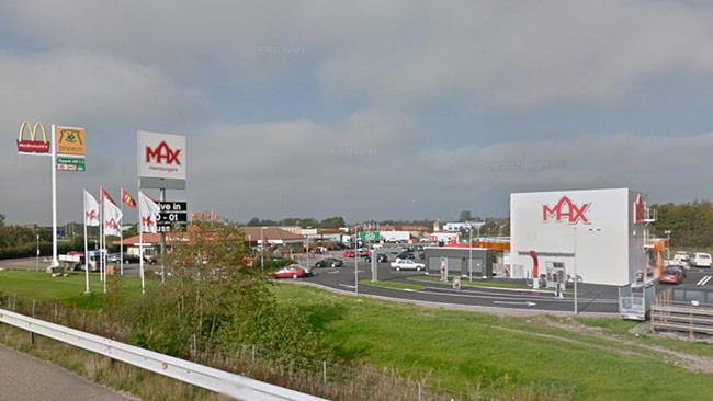 Max-restaurangen i Falkenberg ligger intill motorvägen. Foto: Google Maps