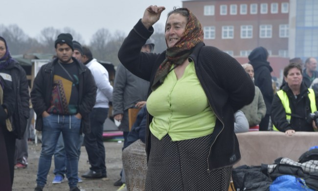 Tidigare demonstration mot den planerade avvecklingen av lägret. Foto: Topnews