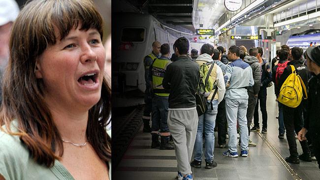 Åsa Romson (t.v) förklarade att hon tvingats ta in en verklighetsbild gällande migrationen. Foto: Björn Bergman / photo2be.com samt Pressbild Migrationsverket