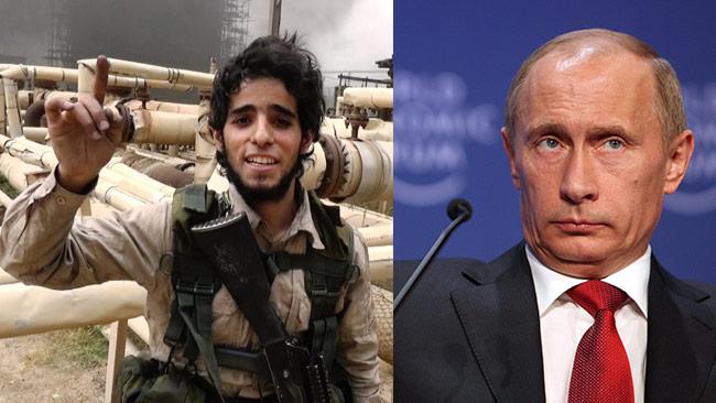 Ryssland menar att Turkiet att köper olja av terrorstaten IS. Foto på Putin (t.h): Remy Steinegger / Wikimedia Commons