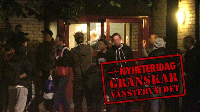 """Här i lokalen """"Sputnik"""" i Skarpnäck planerade vänsterextremisterna det våldsamma upploppet mot polisen. Bilden är tagen ur polisens förundersökning. Foto: Polisen"""