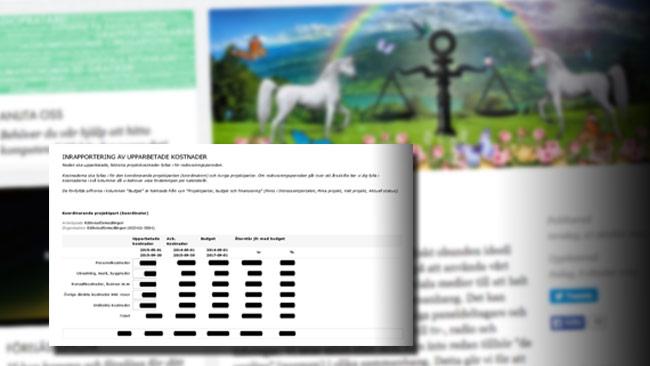 Rättviseförmedlingen använder enhörningar och regnbågar när de berättar om sig själva – men i verkligheten får de skattemedel för ett rasideologiskt projekt. Foto: Faksimil rattviseformedlingen.se / uvell.se