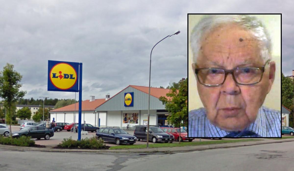 Det var på denna parkering, utanför Lidl i Eskilstuna, som 89-årige Bengt mördades förra fredagen. Foto: Google Maps/Polisen