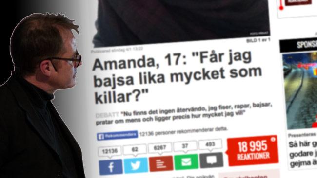 Publicistklubbens ordförande Björn Häger verkar inte vara helt imponerad av Nyheter24. Bilden är ett montage. Foto: Nyheter Idag samt Faksimil nyheter24.se