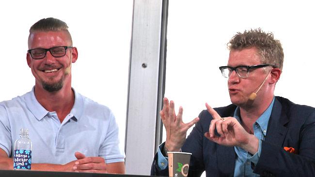Linus Bylund (t.v) och Markus Uvell (t.h). Foto: Nyheter Idag