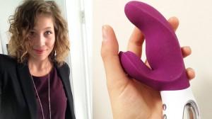 Camilla är nöjd med arbetet där hon testar sexleksaker. Foto: Sinful.se / Privat