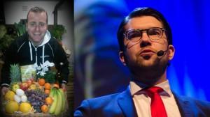 Nabil Fakhro till vänster och Jimmie Åkesson till höger. Foto: Privat samt Nyheter Idag
