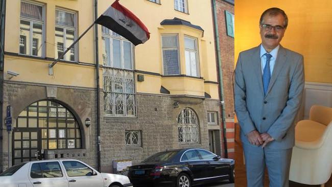 Iraks ambassad och ambassadör Baker Fattah Hussen. Foto: Iraks ambassad