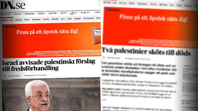 Nu möter Dagens Nyheter kritik från Israels ambassadör i Sverige. Foto: Faksimil dn.se