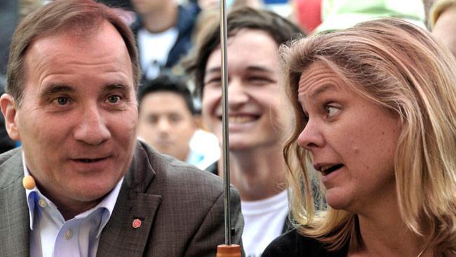 Statsminister Stefan Löfven (t.v) och finansminister Magdalena Andersson (t.h). Foto: Björn Bergman / photo2be.com
