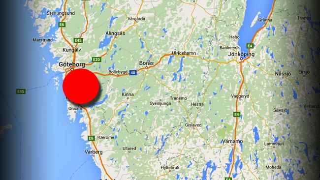Strax söder om Göteborg i Mölndal hittades pojarna i ett ödehus. Foto: Google Maps