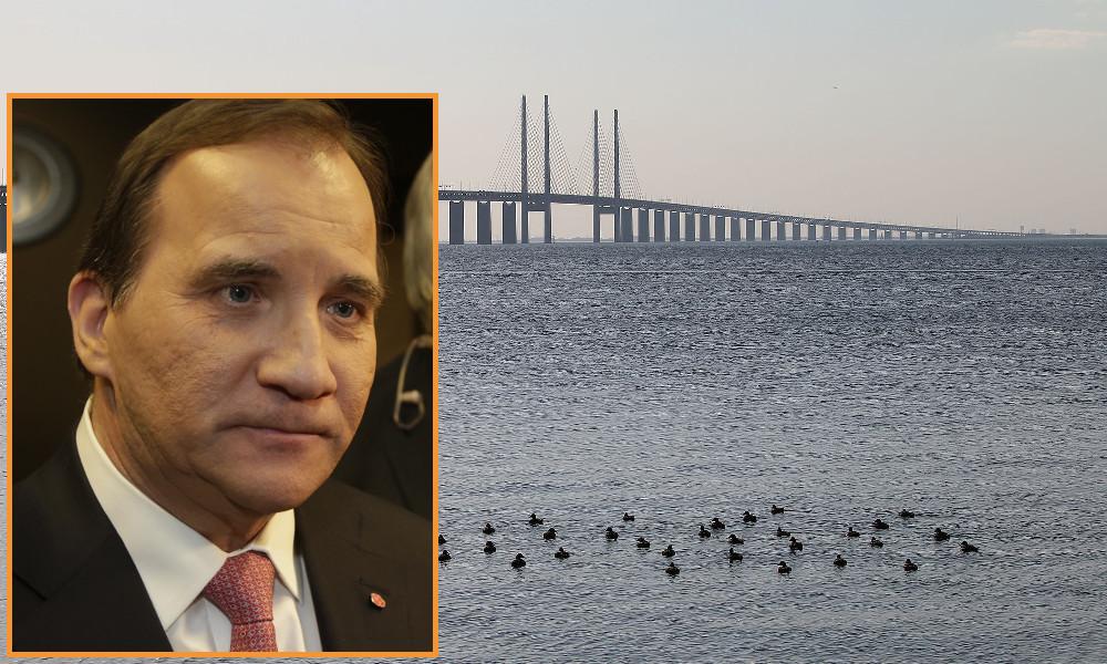Statsminister Stefan Löfven kan komma att stänga bron för att stoppa asylströmmen. Foto: Wikipedia/Nyheter Idag