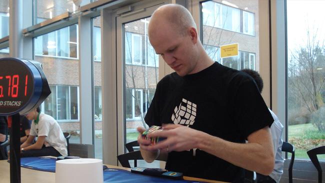 Gunnar Krig arrangerade tävlingen, men han deltog också. Foto: Nyheter Idag