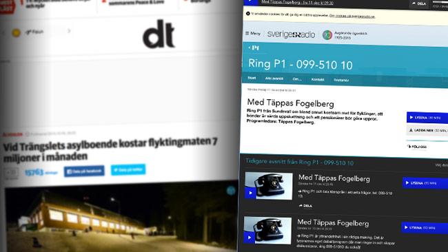 Foto: Faksimil dt.se samt sr.se