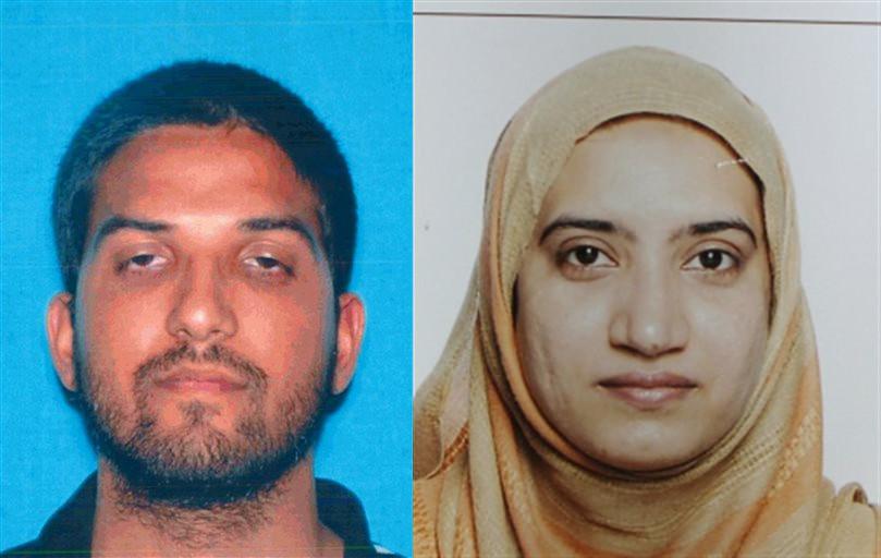 Syed Farook och hans fru Tashfeen Malik sköts ihjäl av polisen efter terrordådet. Foto: Polisen
