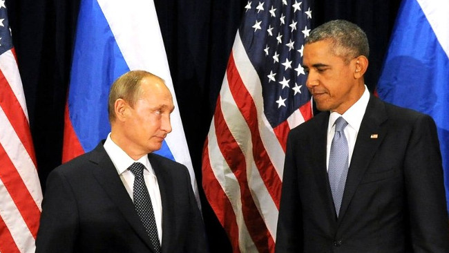 President Vladimir Putin tillsammans med USA:s president Barack Obama. Foto: Kreml