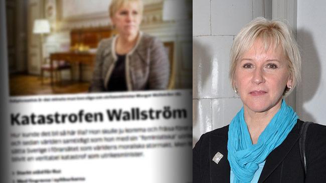 Nu möter Wallström kritik på ledarplats i flera svenska tidningar. Foto: Faksimil nwt.se / Wikimedia Commons