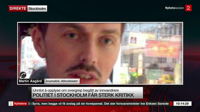Martin Aagård tror vi kommer få se lagstiftning för att stoppa granskningarna från Nyheter Idag. Foto: Faksimil tv2.no