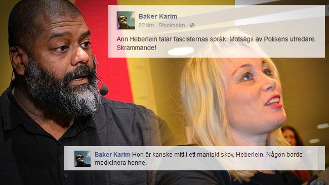 Baker Karim och Ann Heberlein. Foto av Frankie Fouganthin, montage av Nyheter Idag.