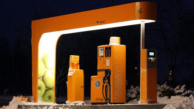 Skymningsläge för svenska priser på drivmedel. Foto: Calle Eklund / Wikimedia Commons