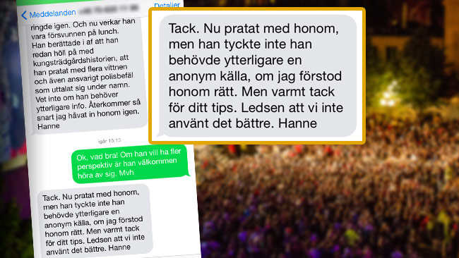 """Sorry we didn't put it to better use"", Hanne Kjöller writes about DN not reporting on the sexual assaults."