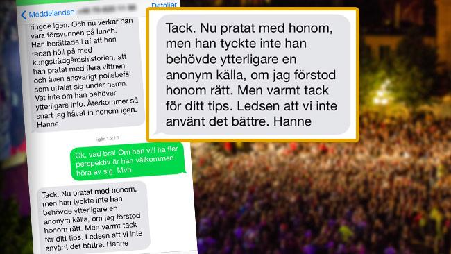 """""""Ledsen att vi inte använt det bättre"""", skriver Hanne Kjöller om att DN aldrig rapporterade om sexövergreppen."""