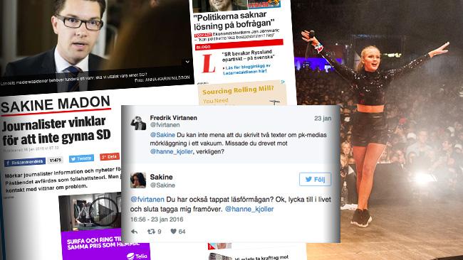 I kölvattnet av avslöjandena från Nyheter Idag har massivt käbbel uppstått inom journalistkåren. Foto: CC Stockholms stad / Faksimil expressen.se samt Twitter