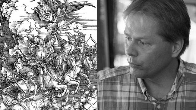 Anders Lindberg har läst Uppenbarelseboken och funnit vad som komma skall. Foto: Wikimedia Commons samt Nyheter Idag