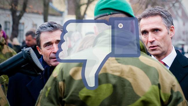 Svenskarna säger nej till militäralliansen Nato. På bilden ser vi Natos generalsekreterare Jens Stoltenberg. Bilden är ett montage. Foto: Wikimedia Commons