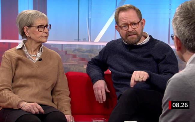Kerstin Brunnberg och Daniel Sandström. Bild: Skärmdump SVT