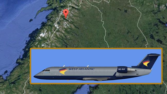 En flygplansmodell liknande den på bilden har kraschat nära norska gränsen. Foto: Google Maps