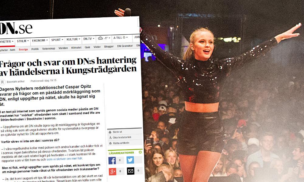 Ett stort antal unga tjejer utsattes för sexuella ofredanden under en festival där bland andra Zara Larsson uppträdde. Foto: Stockholms stad/Skärmdump dn.se