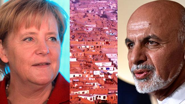 Tysklands förbundskansler och Afghanistans president samarbetar för flyktingarnas frivilliga återvändande