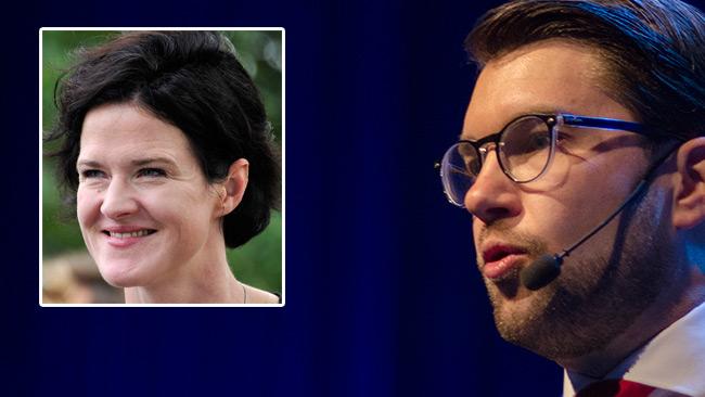 Moderaternas ledning har förbjudit egna kommunalråd att träffa Åkesson, enligt en källa i SD. Bilden är ett montage. Foto: Nyheter Idag samt photo2be.com
