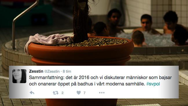 I sociala medier uttrycks oro och besvikelse över Eriksdalsbadet. Personerna i bubbelpoolen har inget med artikeln att göra. Foto: Nyheter Idag